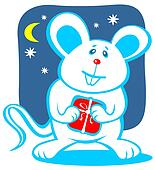 cartoon christmas mouse