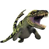 Dakosaurus over White