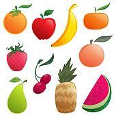 Shinny cartoon fruits