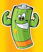 Happy super strong cartoon battery
