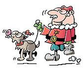 santa and his dog