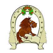 Horseshoe. Horse symbol 2014.