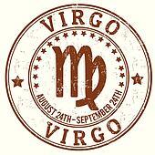 Virgo zodiac grunge stamp