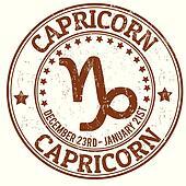 Capricorn zodiac grunge stamp