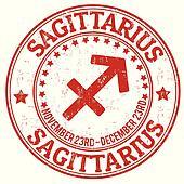 Sagittarius zodiac grunge stamp