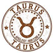 Taurus zodiac grunge stamp