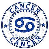 Cancer zodiac grunge stamp