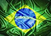 Vintage Brazil flag.