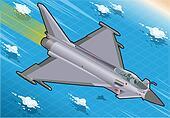 Isometric Eurofighter in Flight