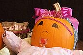 Happy Pumpkin Baby with Presents