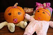 Two Cute Princess Pumpkin Babies