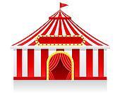 circus tent illustration