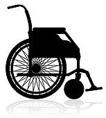 wheelchair black silhouette illustration