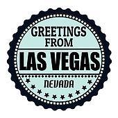 Greetings from Las Vegas label