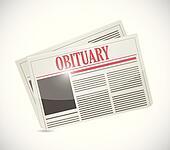 obituary newspaper section illustration design