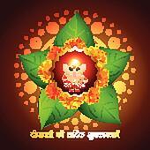 indian god with diwali diya