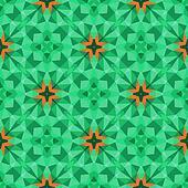 Multicolor geometric pattern in bright green.