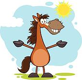 Smiling Horse Character