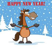 Happy New Year With Horse