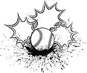 Baseball or Softball Splatter Pow