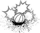 Basketball Splatter Pow