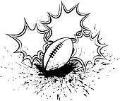 Football Splatter Pow