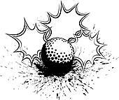 Golf Splatter Pow