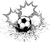Soccer or Football Splatter Pow