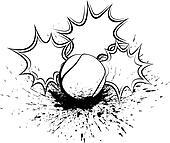 Tennis Splatter Pow