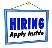 Hiring Window SIgn Apply Within Employment Interview Job