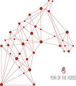 Chinese new year of the Horse web shape illustration.