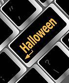 Halloween key on computer keyboard