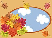 Autumnal cartoon landscape
