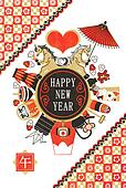 New Year's greeting card template