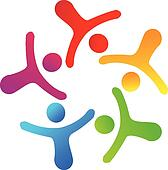 Teamwork networking logo