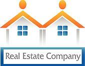 Real estate houses icon figure logo