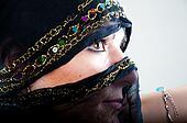 Muslim girl in studio