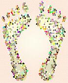 mosaic feet