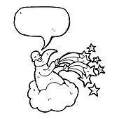 god on cloud cartoon