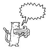 cat with bad breath cartoon
