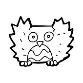cartoon little owl