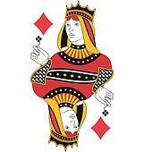 Queen of Diamonds no card