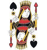 Queen of Spades no card