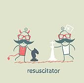 resuscitator plays chess with the devil