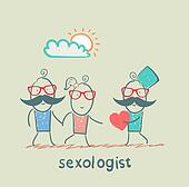 Sexologist gives the heart a man and woman