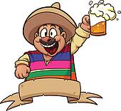Mexican with beer