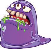 Purple blob monster