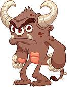 Grumpy brown monster