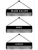 set of hair salon combs