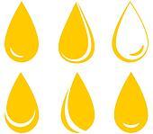 set of oil drops
